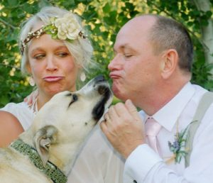Innkeepers Patrick & Shelley with their dog Iggy