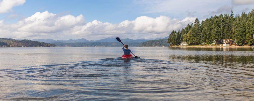 kayaker in the san juans