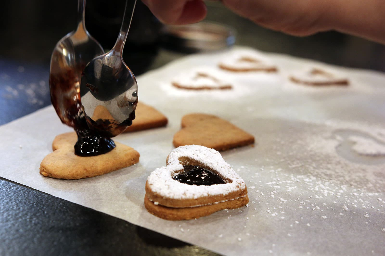 Linzer Heart Cookies - Filling