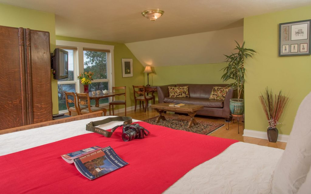 Relaxing at our luxurious Inns is one of the best things to do in the San Juan Islands