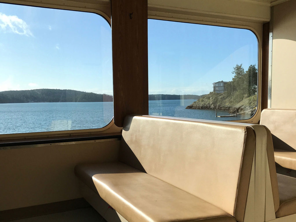 Ferry ride from Anacortes to Friday Harbor
