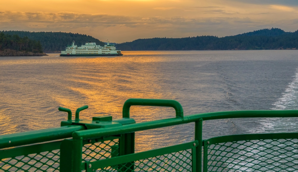 Stunning views from the San Juan Island Ferry